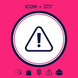 Attention icon symbol Royalty Free Stock Image