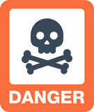 Attention icons danger button and warning signs. Stock Photos