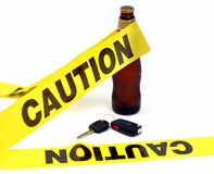 Attention - ne buvez pas et ne pilotez pas photo libre de droits