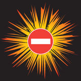 Attention - No Entry Royalty Free Stock Image