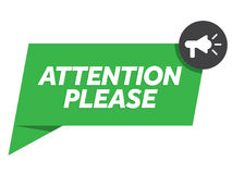 Attention please badge vector Royalty Free Stock Images