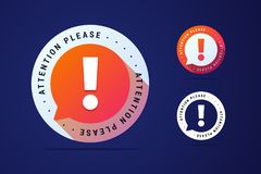 Attention please sign with bubble. Royalty Free Stock Images