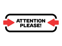 Free Attention Please Vector. Rectangular Illustration With Red Arrows To Grab Attention. Royalty Free Stock Photography - 96591987