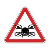Attention quadrocopter. Danger of aerial photography. Red road s. Ign Stock Images