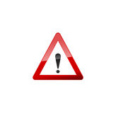 Attention Red Sign, Icon on white. Attention Red Sign Icon on white. Vector Stock Image