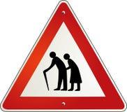 Attention retirement pensioner. Old partner Stock Images