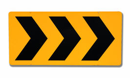 Attention road sign. On white background Stock Images