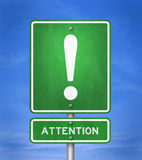 Attention - road sign Stock Images