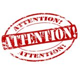 Attention. Rubber stamp with word attention inside,  illustration Royalty Free Stock Image