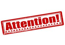 Attention. Rubber stamp with word attention inside,  illustration Stock Photo