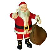 Attention Santa Claus Royalty Free Stock Image