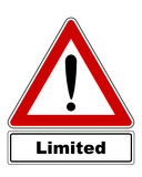 Attention sign with exclamation mark and added information Royalty Free Stock Images