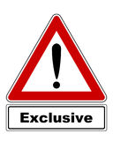 Attention sign with exclamation mark and added information Stock Photos