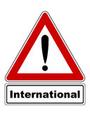 Attention sign with exclamation mark and added information Royalty Free Stock Photos