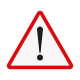 Attention sign. Exclamation point on a white background. Vector illustration Stock Photos
