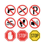 Attention sign vector illustration Stock Photos