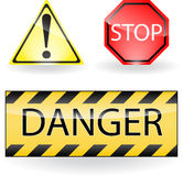 Attention signs Royalty Free Stock Photos