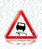 Attention slip danger. Symbol warning weather Royalty Free Stock Images