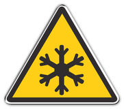 Attention Snow. Warning Sign: Attention Snow - clipping path included Royalty Free Stock Images