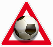 Attention soccer Royalty Free Stock Image