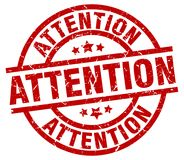 Attention stamp Stock Photo