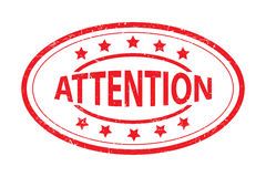 Attention stamp Royalty Free Stock Photography