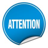 Attention sticker. Attention round sticker isolated on wite background. attention Stock Image