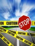 Attention sur la route Photographie stock libre de droits