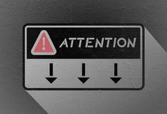 Attention symbol Royalty Free Stock Image
