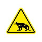 Attention Tasmanian devil. Danger is wild beast. yellow prohibit Stock Images