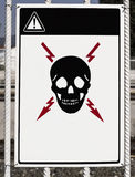 Attention!. There is a risk of death (exposed high voltage Royalty Free Stock Photos