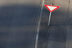 Attention traffic sign in germany Royalty Free Stock Photos
