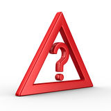 Attention. traffic sign on white background. Isolated 3D image Stock Photography