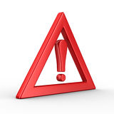 Attention. traffic sign on white background. Isolated 3D image Stock Photos