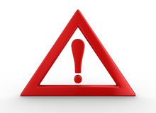 Attention. traffic sign on white background. Isolated 3D image Stock Image