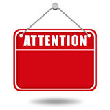 Attention warning board Royalty Free Stock Photos