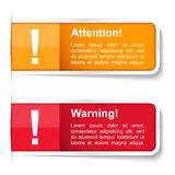 Attention and Warning Labels Stock Image