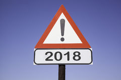 Attention 2018 Stock Photo