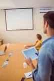 Attentive business team following a presentation Stock Photos