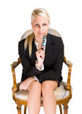 Attentive business woman Royalty Free Stock Images