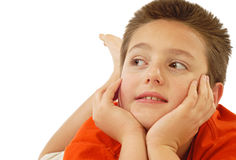 Attentive child Royalty Free Stock Image