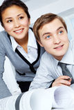 Attentive co-workers Stock Photography