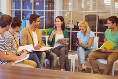 Attentive creative business people in meeting Stock Photo