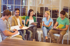 Attentive creative business people in meeting Royalty Free Stock Photo