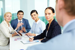 Attentive employees Stock Image