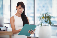 Attentive executive reading file Royalty Free Stock Photography