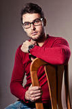 Attentive, focused man Stock Photo