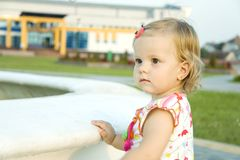 The attentive kid Royalty Free Stock Photography