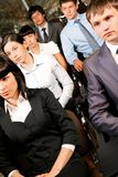 Attentive listeners. Image of confident people listening to lecture at conference Royalty Free Stock Image