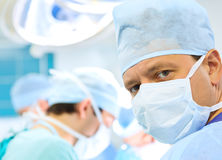 Attentive look of surgeon Stock Image